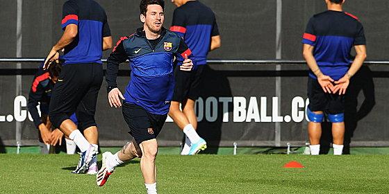 Messi se va recuperando para jugar contra el Bayern